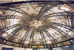 Stained glass DOME by France Vitrail International Paris, FRANCE