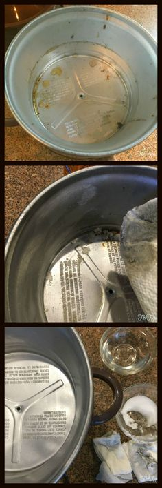 How to clean your slow cooker or crockpot easily with just a few household items. Wipes clean with a paper towel!!