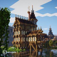 Minecraft Building Guide, Minecraft House Plans, Minecraft Mansion, Minecraft Cottage, Minecraft Castle, Cute Minecraft Houses, Minecraft Room, Amazing Minecraft, Minecraft Blueprints
