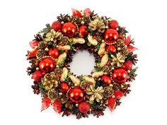 Wianek Świąteczny, Wianek Bożonarodzeniowy - Zielonepalce - Dekoracje bożonarodzeniowe