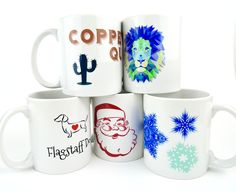 Custom Photo and Text Coffee Mugs. Logos, Photography, and more!   Mini Masterpieces AZ  www,minimasterpeicesaz.com @mini_masterpieces_az #minimasterpiecesaz