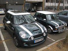 Mini Cooper moderno y clásico
