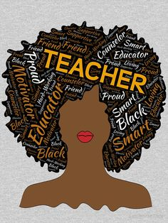 "Teacher Afro for African.""Artistic Teacher Afro for African. African American Artwork, African American Fashion, African American Hairstyles, African Art, African American Quotes, African American Culture, African Women, African Dress, Black Love Art"