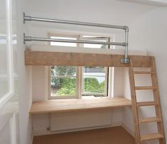 Mezzanine bed - Inspirational Loft Beds for Your Lovely House Our Bright Side Bunk Beds, Small Rooms, Bunk Beds Small Room, Small Spaces, Beds For Small Rooms, Loft Spaces, Tiny Apartments, Bedroom Design, Mezzanine Bedroom