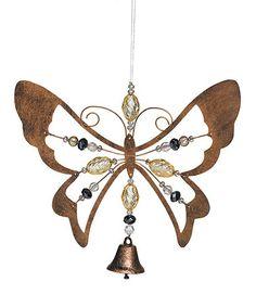 Look at this #zulilyfind! Hanging Butterfly Bell #zulilyfinds