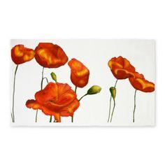 Poppies (orange) 3'x5' Area Rug