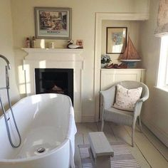Looking forward to a little stay at Hollyhock Cottage next weekend all being well, I always get a bit excited! Beach Cottage Style, Beach Cottage Decor, Beach House, Fishermans Cottage, Cosy Home, Nautical Bathrooms, Cottage Interiors, Beach Cottages, Beautiful Bathrooms
