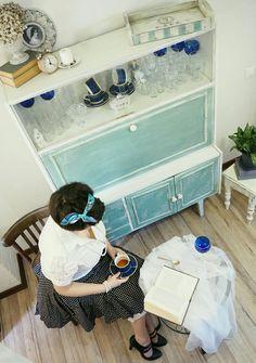Перекраска, перекраска старой мебели, сервант, буфет, старая мебель, винтаж, ретро мебель, переделка, своими руками, декор, декор дома, кухня