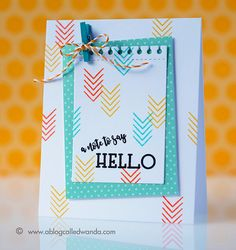 A Note To Say Hello Card by Wanda Guess for Papertrey Ink (June 2017)
