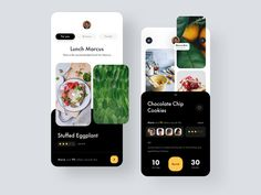 Cooking Recipe App designed by Eduard. Connect with them on Dribbble; the global community for designers and creative professionals. App Ui Design, User Interface Design, Cooking App, Cooking Recipes, Website Design Layout, Mobile App Ui, Mobile Design, Web Design Inspiration, Screens