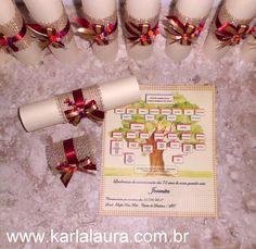 Karla Laura Convites, Lembranças e Papelaria Personalizada: Convite rústico com árvore genealógica - Jovenita ...