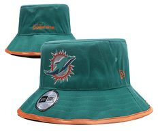 47eb43675a8 Miami Dolphins NFL Bucket Hats Green