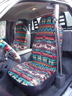 These car seat covers are made with 100% polyester fleece fabric and are machine washable. Stretches to fit car, van and truck seats easily and snug
