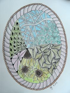 Easter Egg Zentangle