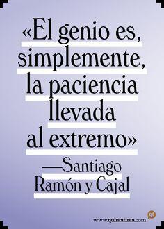 Una cita de Santiago Ramón y Cajal, compuesta en Windsor.