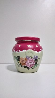 Recycled Glass Bottles, Ponds Backyard, Pots, Decoupage, Stencils, Mason Jars, Recycling, Vase, Wallpaper