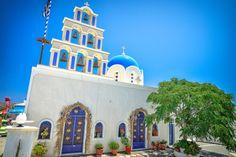 Santorini Church by Drasko Stojadinovic on Santorini, Taj Mahal, Greece, Image, Destinations, Viajes, Greece Country, Santorini Caldera