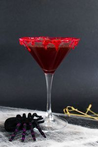 This Cranberry Halloween Bloody Martini is made with cranberry pur�e, vodka, and sweet vermouth. A spooky twist on the classic Vodka Martini.