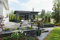 Pergola To House Attachment Porch And Balcony, Patio Roof, Pergola Roof, Pergola Kits, Pergola Ideas, Amazing Gardens, Beautiful Gardens, Landscape Design, Garden Design