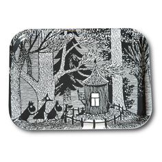 Handmade tray with a classic motif taken from Tove Jansson's original drawings. High quality wood, made in Sweden. Size 27 x 20 cm.
