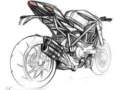 Ducati Streetfigter Sketch Rear