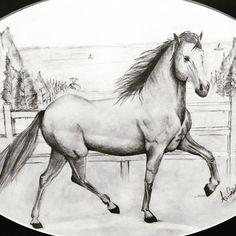 #karakalem #drawing #dessin #horse