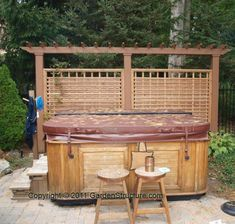 64 Best Hot Tub Privacy Screens Images Pergola Plans Deck With