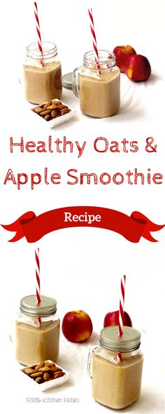 A recipe for a quick Healthy Oats and Apple Smoothie without Sugar. This smoothy… A recipe for a quick, healthy oat and apple smoothie without sugar. This smoothy is filling and can be taken as a breakfast or snack, even if you are on a weight loss diet. Apple Smoothie Recipes, Oat Smoothie, Apple Smoothies, Healthy Smoothies, Weight Loss Snacks, Healthy Recipes For Weight Loss, Weight Loss Smoothies, Healthy Weight, Easy Snacks