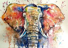 Buy Elephant (70 x 50 cm), Watercolour by Kovács Anna Brigitta on Artfinder. Discover thousands of other original paintings, prints, sculptures and photography from independent artists.