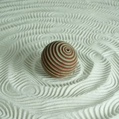 Textured Cement Sand Sphere for Sand Play: Lines Design