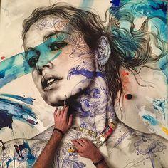 by Gabriel Moreno Art Alevel, Gcse Art Sketchbook, Art Pages, Portrait Art, Figure Painting, Art Techniques, Art Studios, Gabriel, Love Art
