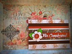 Birthday card, handmade. NathurArt: Cajas, Tarjetas y más...