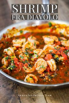 Shrimp Fra Diavolo is classic Italian cuisine. The dish is known for being spicy, but it& easy to control how much heat you add to the dish (see Notes). Fish Recipes, Seafood Recipes, New Recipes, Dinner Recipes, Cooking Recipes, Favorite Recipes, Healthy Recipes, Shrimp Pasta Recipes, Italian Pasta Dishes