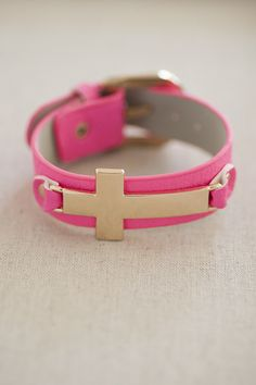 You can be a bad or good girl in TrendyBlendy's Don't Cross me Bracelet!  $14.00 http://www.trendyblendy.com/products/dont-cross-me-bracelet-in-fuchsia
