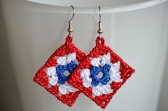 Crochet earrings / Virkatut korvakorut by SirpaA on Etsy, €12.00