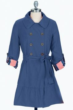 Double Breasted Trench Coat w/Roll Up Sleeve #salediem  #coats #winter