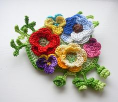 ✿ڿڰۣ(̆̃̃•  💁🏼 ✿ڿڰۣ(̆̃̃•  Crochê Flor Pregadeira Broche Algodão mão livre floral por Flores -  /  ✿ڿڰۣ(̆̃̃•  💁🏼 ✿ڿڰۣ(̆̃̃•  Crochet Flower Brooch Pin Cotton Floral Freeform by Flowers -