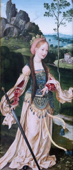 Joos Van Clève. 1480-1540 . Anvers. Adoration des Mages avec Ste Catherine et Sainte ? 1520 Berlin Gemäldegalerie