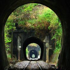 Train tunnels.