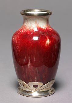 Vase, Ernest Chaplet, about 1895. Museum no. C.1280-1917