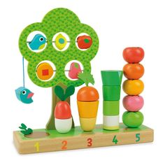 Vilac Learn to Count Vegetables Game - Children's Toys and games - Smallable