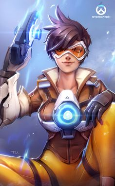 Overwatch/Tracer, Tu Tu on ArtStation at https://www.artstation.com/artwork/L83dv