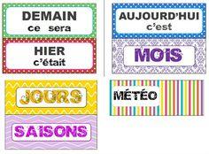 Etiquettes titres (LaCatalane) French Classroom Decor, Classroom Setup, Classroom Activities, French Conversation, Best Seo Tools, Kids Homework, French Education, French Phrases, French Resources