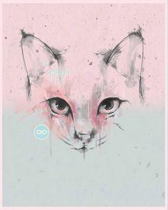 """MIAU Says Lena"" By sbztn www.sbztn.tumblr.com  #illustration #digitalart #graphicdesign #feelinggrafico #cats Graphic Design Illustration, Digital Art, Cats, Instagram, Gatos, Cat, Kitty, Kitty Cats"