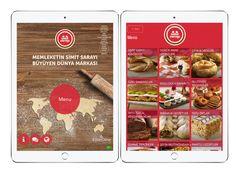 Creative Menus from Simit Sarayı #tablet menu #menu #restaurant menu #digital menu
