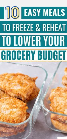 In this post I'll share with you 10 Practical and Easy Healthy Meals to Freeze and Reheat on a Budget so you can find even more ways to save money. Looking for budget friendly freezer meals that can help you save? Then head over to the blog to read this post. Don't forget to bookmark it and save it to your board on ways to save money so you can easily refer to it later. Frugal Lifestyle | Frugal Lifestyle Tips | Frugal lifestyle Simple Living Healthy Meals To Freeze, Meals You Can Freeze, Easy Healthy Recipes, Easy Meals, Frozen Meals, Frugal Living Tips, Ways To Save Money, Super Easy, Saving Money