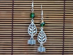 Books are Green Book Charm Earrings