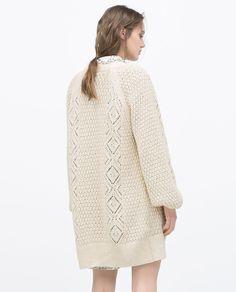 LONG KNITTED CARDIGAN-Cardigans-Knitwear-WOMAN | ZARA United States