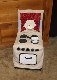 Chair Cover Play Kitchen Stove Kitchen Stove Chair by woodhut