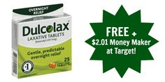 FREE Dulcolax Products + $2.01 Money Maker at Target!